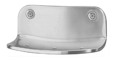 Bradley SA22 Surface Mounted Heavy Duty Soap Dish - Front Mounted