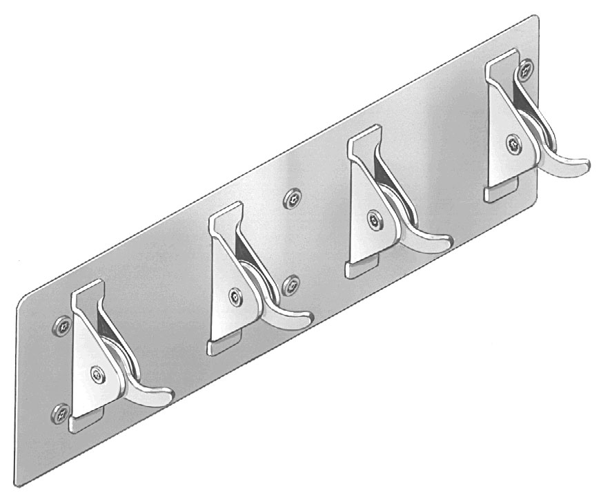 Bradley SA38 Adjustable Tension Clothes Hook Strip - Chase Mounted