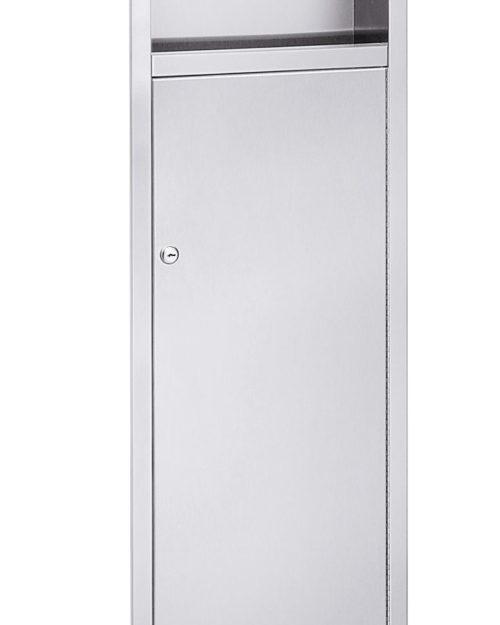 Bradley 2251-11 Surface-Mounted Folded Towel Dispenser & 5.3 gal. Waste Receptacle