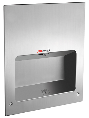 American Specialties 0135-2 TURBO-Tuff™ Recessed Automatic High Speed Hand Dryer (208-240V)